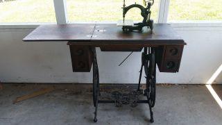 Antique 1800s Wilcox & Gibbs Sewing Machine photo