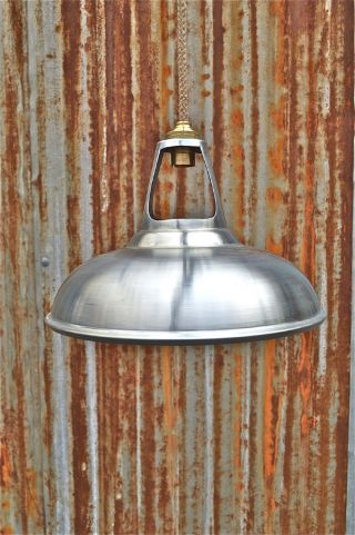 Cool White Zinc Vented Hanging Light Shade Industrial Ceiling Lamp Shade Bl8 photo