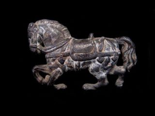 Attractive Vintage Lead Galloping Horse Figurine photo