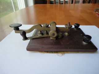 Antique Camelback Telegraph Key Signed - L.  G.  Tillotson & Co.  8 Dey Street N.  Y. photo