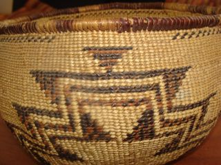 Antique Hupa Yarok Native American Basket Northern California Large Storage photo