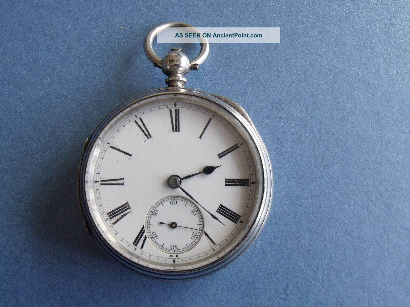 Silver Fusee Pocket Watch ' Collings & Wallis ' - 1874 - Spares Pocket Watches/ Chains/ Fobs photo