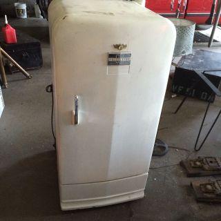 Vintage 1950s Frigidaire Refrigerator General Motors Gm Rare Man Cave photo