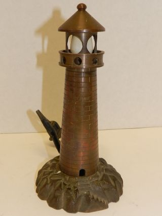 Wwll Trench Art Lighthouse Lamp,  8