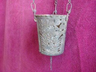 Post Byzantine - Medieval Triple Chaned Orthodox Censer - Lampada 18th C. photo