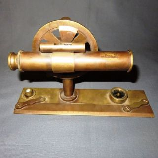 An Unusual Early 20th Century Optical Brass Table Level photo