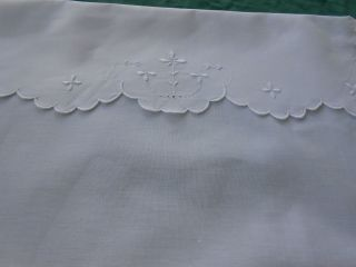 Authentic Victorian Baby Carraige Cover,  White Work Hand Embroidery photo