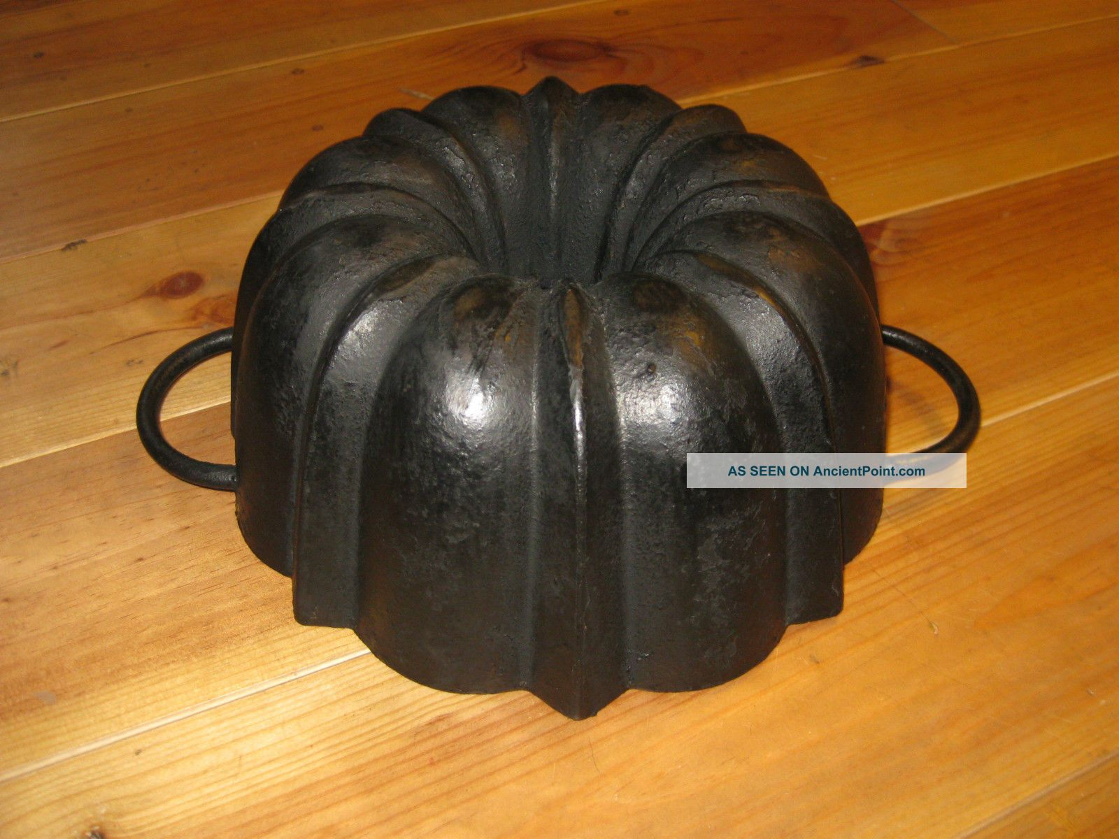 Very Old And Top Antique Cast Iron Bundt Pan Germany 3210 G Other Antique Home & Hearth photo