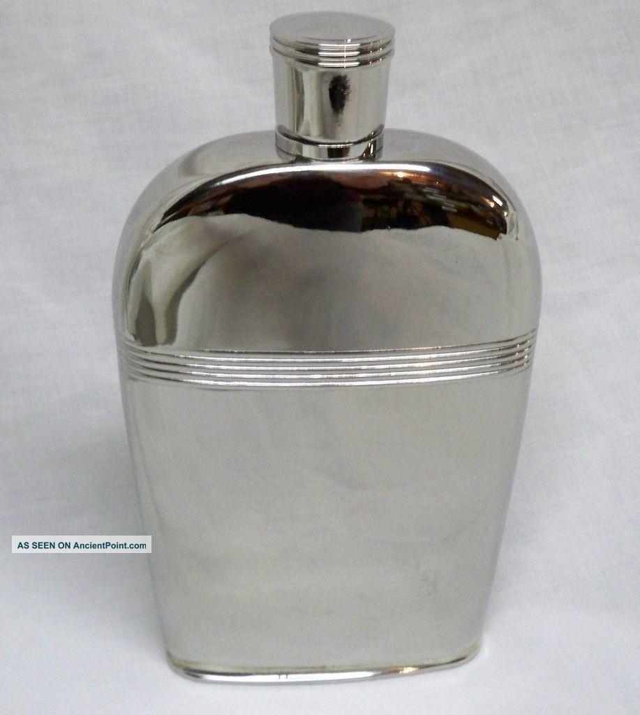 Silver ' Williamsburg ' Hip Flask - Finest Reed & Barton - Bottles, Decanters & Flasks photo