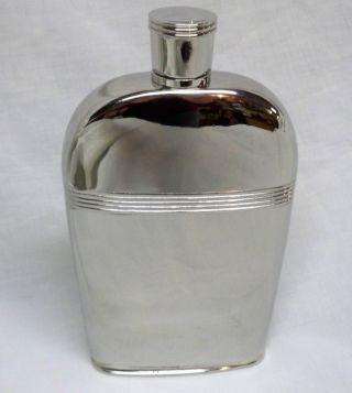 Silver ' Williamsburg ' Hip Flask - Finest Reed & Barton - photo