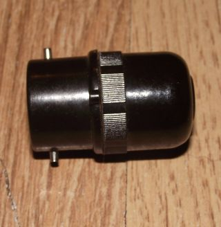 Vintage Bakelite Electrical Fitting For Small Bayonet Light Fitting photo