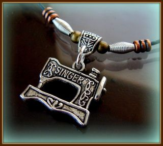 Singer Sewing Machine Pendant Necklace - Featherweight Quilter Style Jewelry photo