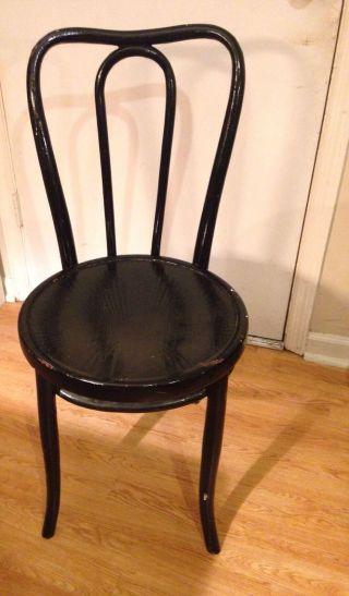 Antique Fischel Czechloslovakia Bent Wood Chair photo