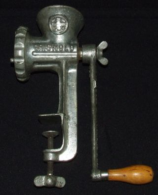 Vintage Griswold No.  3 Cast Iron Meat Grinder With Table Clamp - Great Shape photo