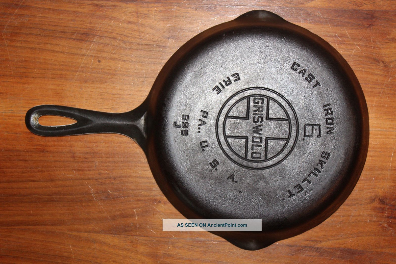 Scarce 1950 ' S Griswold Quaker Ware Porcelain Lined 6 Skillet Vintage Cast Iron Other Antique Home & Hearth photo