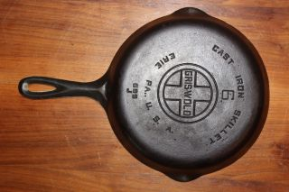 Scarce 1950 ' S Griswold Quaker Ware Porcelain Lined 6 Skillet Vintage Cast Iron photo