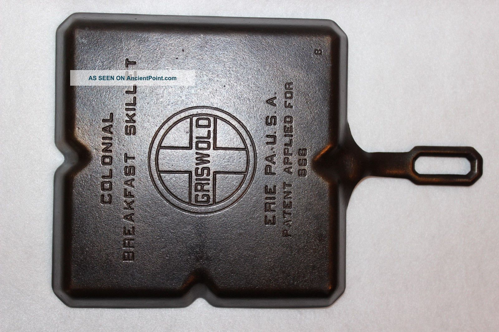 Vintage 1940 ' S Griswold 9 Inch Colonial Breakfast Skillet P/n 666 B Cast Iron Other Antique Home & Hearth photo