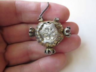 Very Rare And Silver Earring With Gilded Byzantine Period 12 - 14ad photo