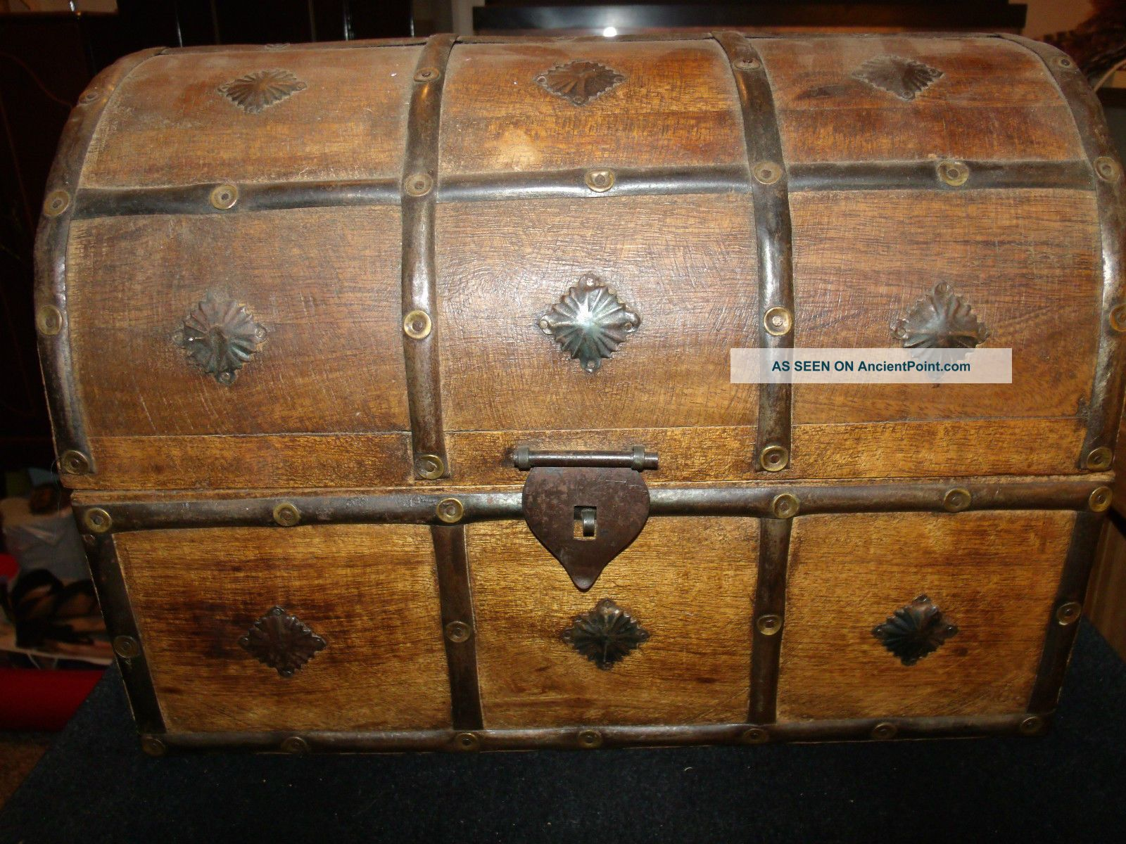 Old Antique Or Vintage Pirate Style Treasure Chest,  Age Unknown,  20th Century Unknown photo
