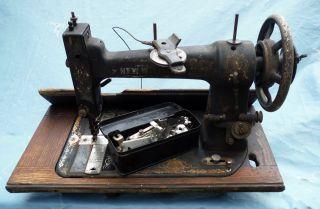 Vtg A.  G.  Mason Mfg.  Co Treadle Wheel Sewing Machine (improved Wilson) photo