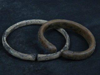Ancient Bronze 2 Bracelet Islamic (medieval) 1300 Ad photo