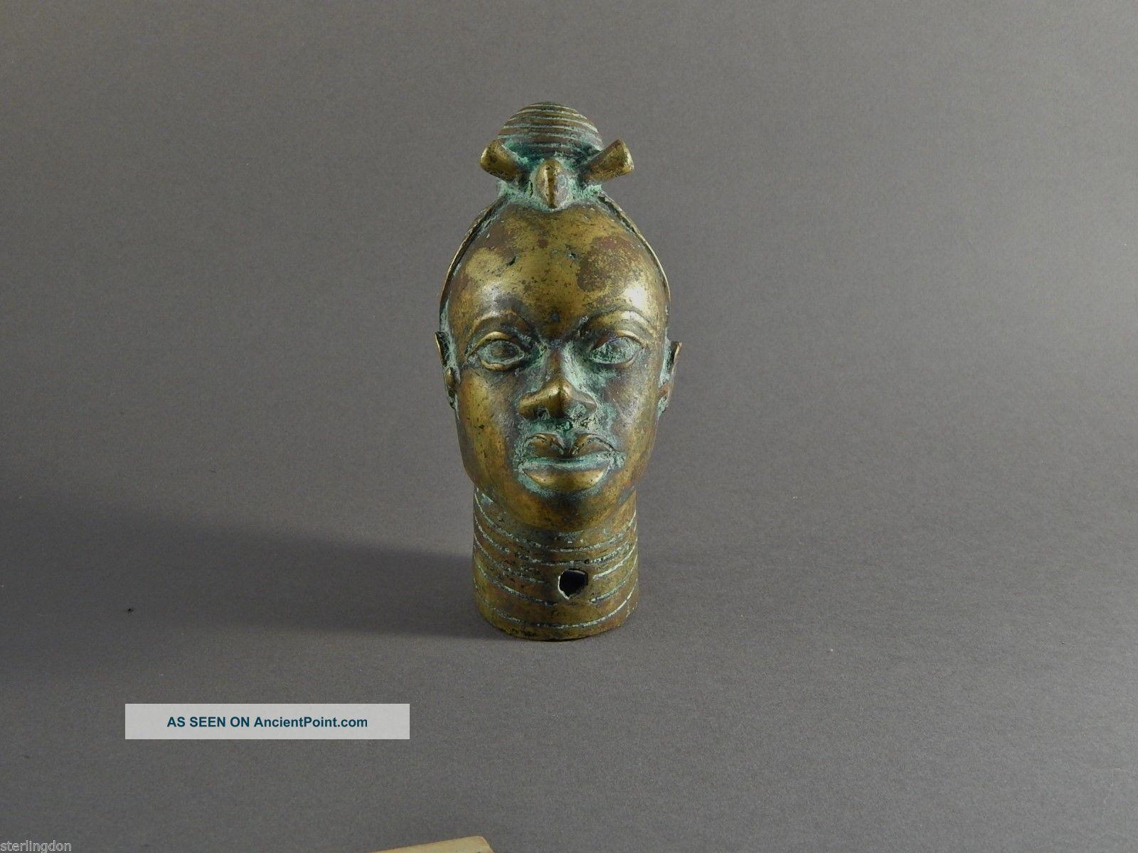Extraordinary Brass Or Bronze Metal Benin Head Ex Salander - O ' Reilly Galleries Sculptures & Statues photo