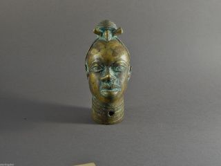 Extraordinary Brass Or Bronze Metal Benin Head Ex Salander - O ' Reilly Galleries photo