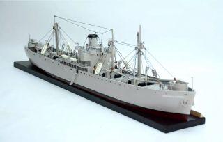 Liberty Waterline N Scale Battleship - Handmade Wooden Warship Model photo