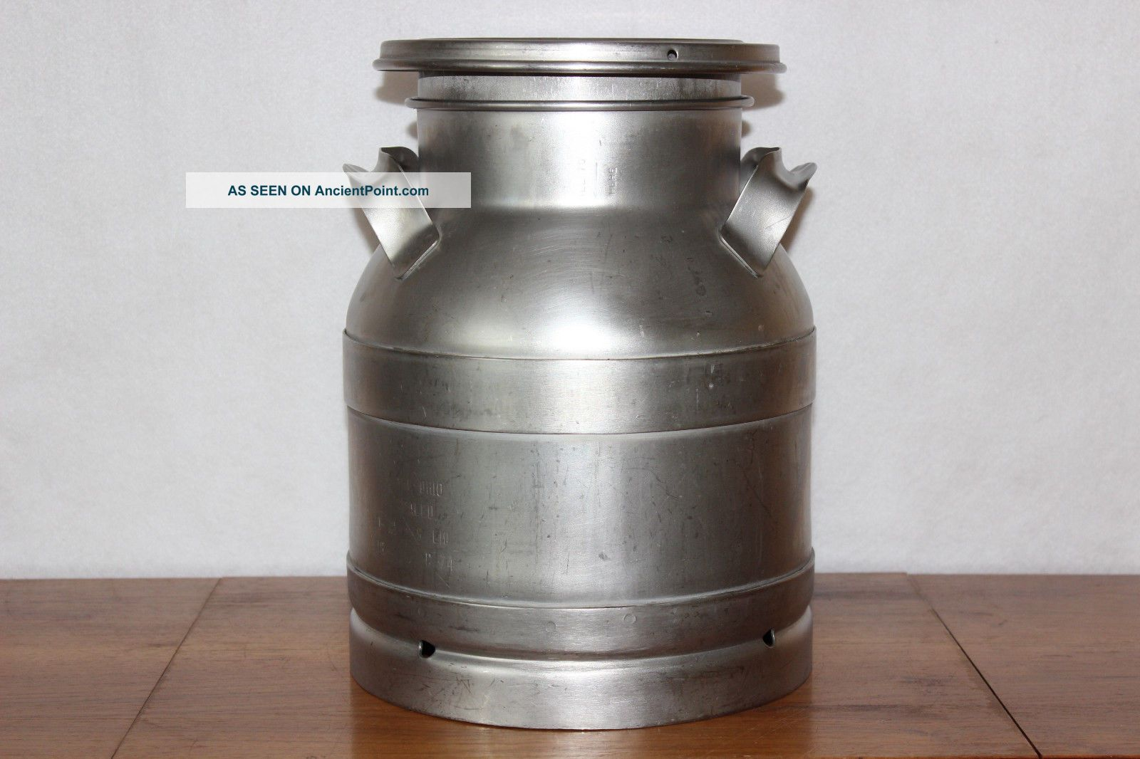 Vintage Buhl Ohio 3 Gallon / 12 Qts.  Dairy Farm Stainless Steel Milk Can Bottle Other Antique Home & Hearth photo