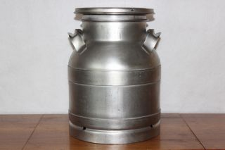 Vintage Buhl Ohio 3 Gallon / 12 Qts.  Dairy Farm Stainless Steel Milk Can Bottle photo