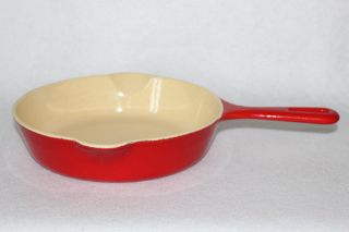 Vintage 1950 ' S Griswold P/n 724 Flamingo Red Porcelain Size 5 Skillet photo