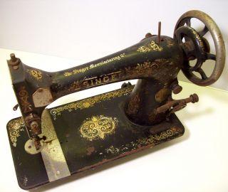 Antique / Vintage 1908 Singer Sewing Machine photo