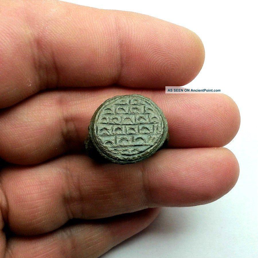 Ancient Bronze Byzantine Ring Around 12 - 13 Century Ad. Byzantine photo