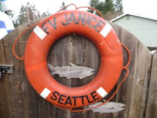 30 Inch Authentic Life Preserver Ring Saver Float Buoy Bouy (016) photo