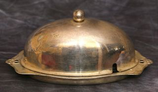 Charming Art Nouveau Silverplated ' Silcraft ' Epns Butter Dish With Dome Lid photo