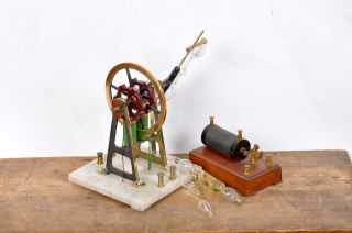 Early Antique Electric Geissler Rotator/motor With Coil photo