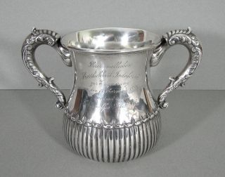 Hamilton & Diesinger Sterling Silver Loving Cup Large Antique Circa 1890s photo