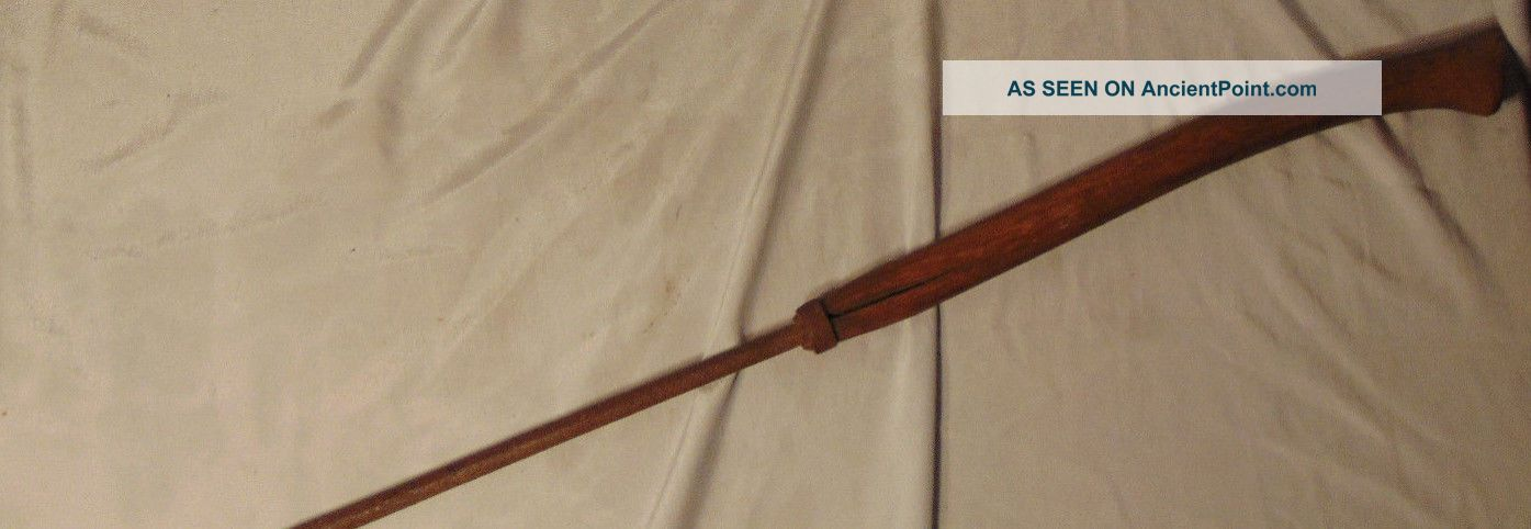 Antique Spear Harpoon W/ Wooden Handle Estate Fresh Hunting Relic Harpoons photo