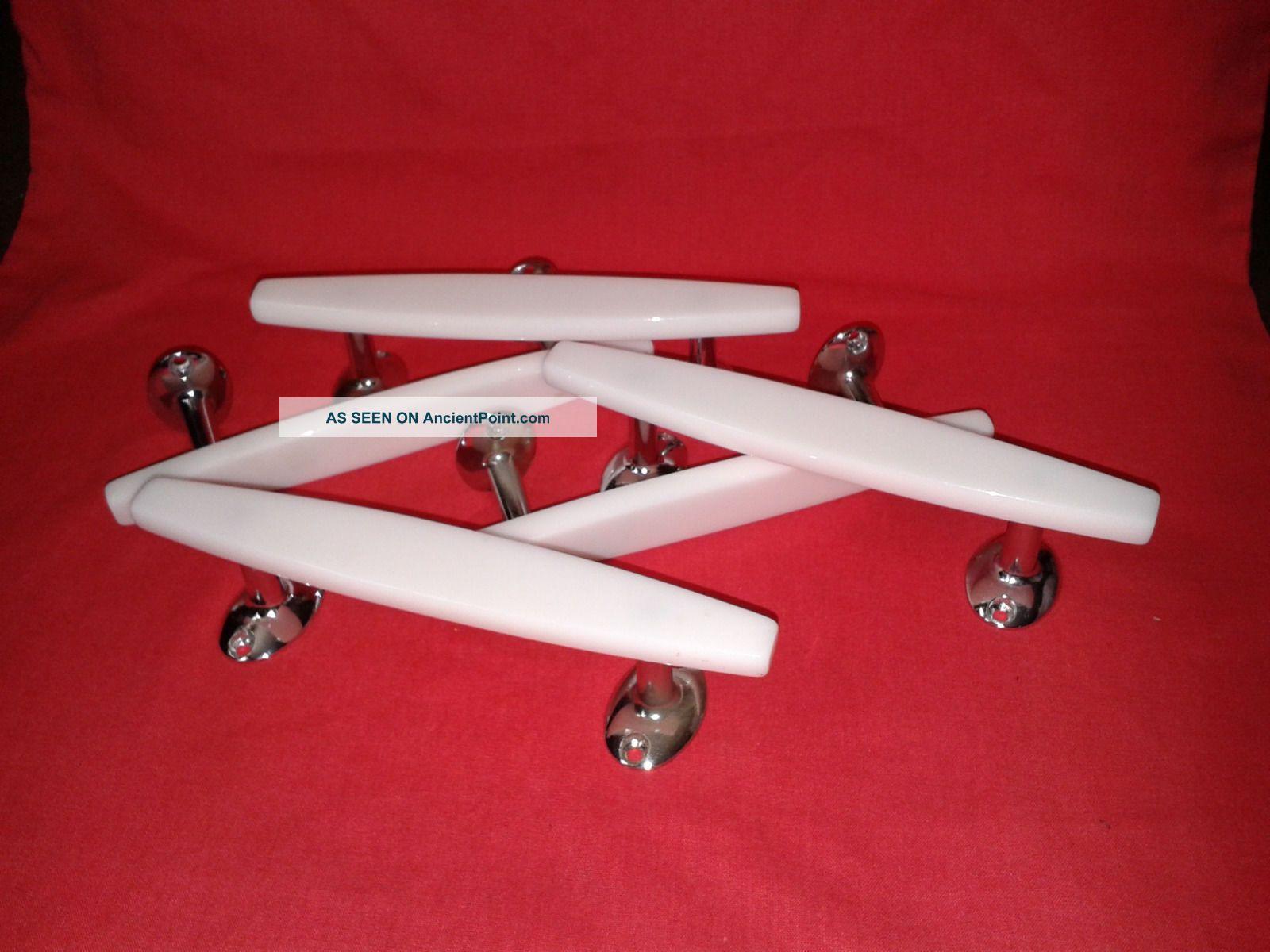 5 X Wilbec 1950 ' S/60 ' S White Plastic / Lucite & Chrome 7