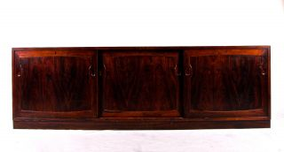 Retro Vintage Danish Rosewood Sideboard Low Record Tv Cabinet 60s 70s photo