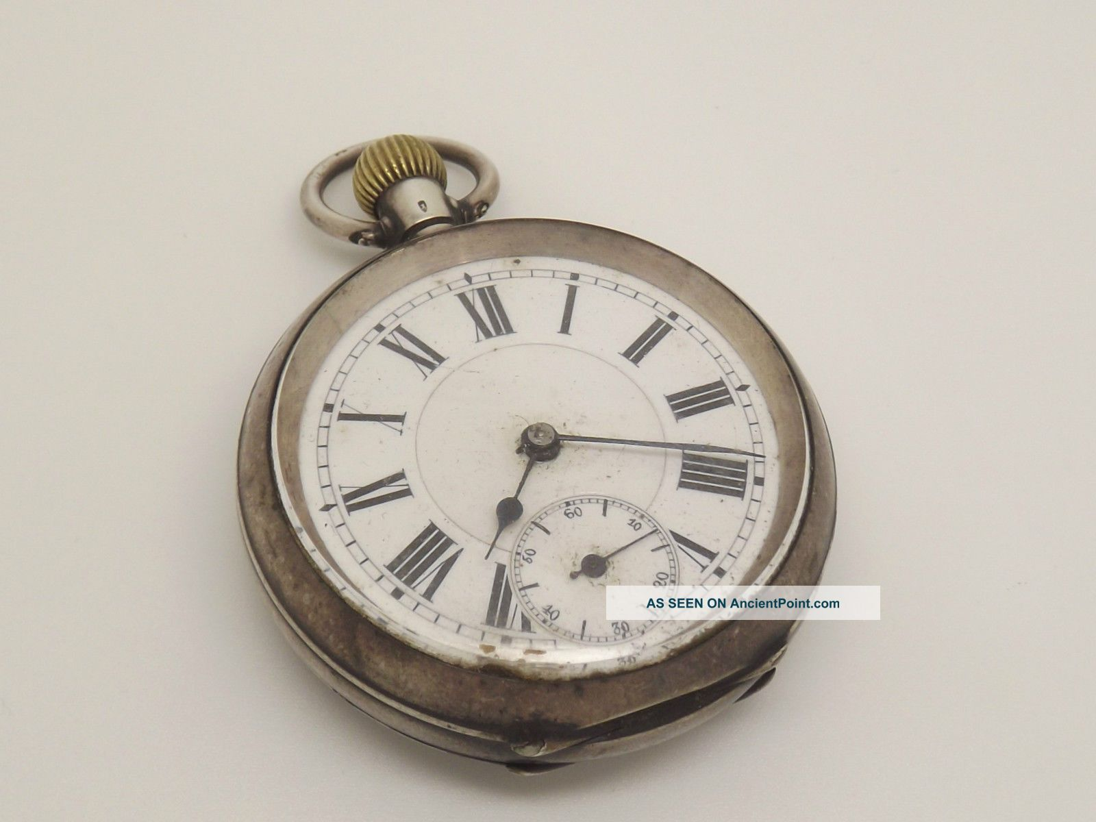 Circa 1900 Solid Silver 0.  935 Top Winding Pocket Watch - Spares/repair Pocket Watches/ Chains/ Fobs photo