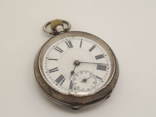 Circa 1900 Solid Silver 0.  935 Top Winding Pocket Watch - Spares/repair photo