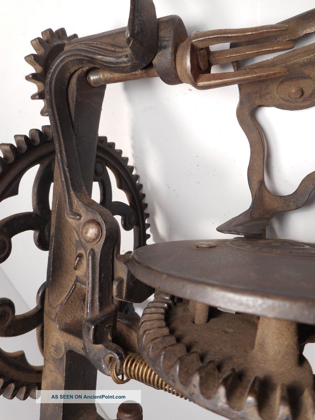 Antique Harbster Bros Apple Peeler / Parer Patent May 5th 1868 Cast Iron Rare Other Antique Home & Hearth photo