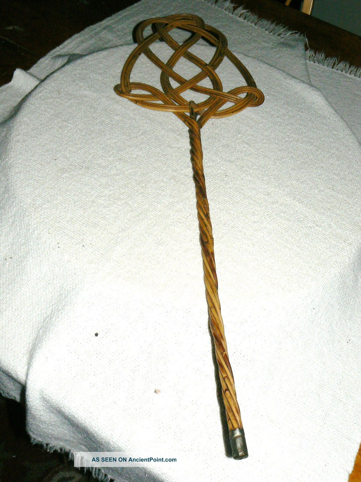 Antique Early 1900's Cane Wicker Carpet Rug Beater - Simply Gorgeous Other Antique Home & Hearth photo