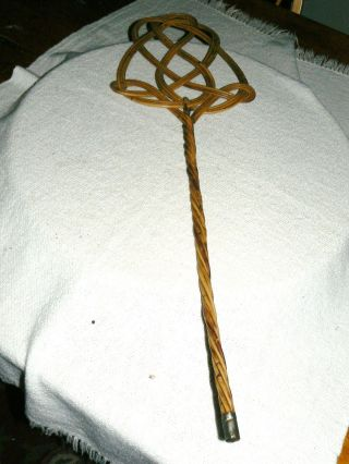 Antique Early 1900's Cane Wicker Carpet Rug Beater - Simply Gorgeous photo