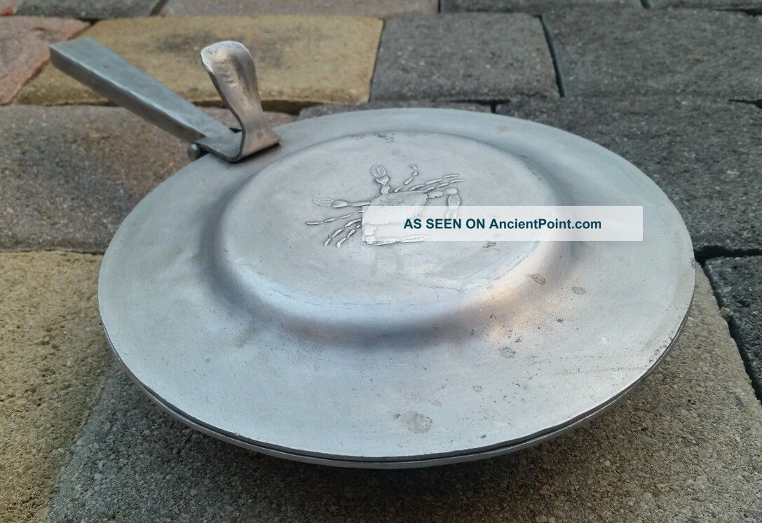 Wendell August Forge Crab Frying Pan W/ Hinged Lid - Rare Antique Other Antique Home & Hearth photo