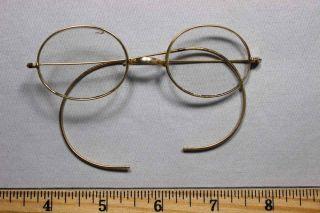 203f7784259 Antique Spectacles   Eye Glasses Gold Filled Frames Corrective Lenses Not  Signed photo
