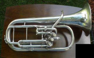 Vintage Conn Alto Horn,  Silver Plated,  Player photo