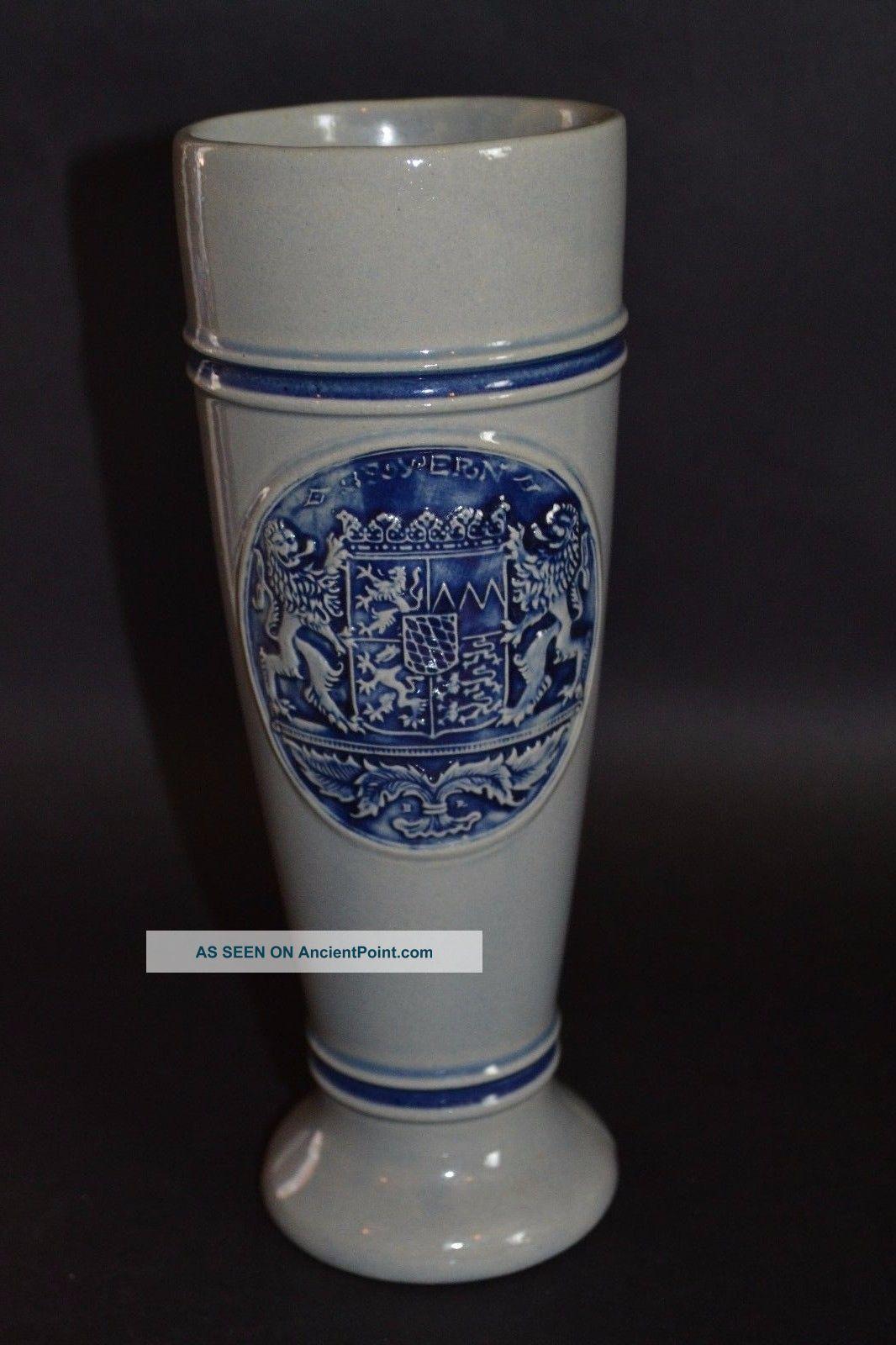 Rare Retro Vintage Westerwald Pottery Beer Tankard Pint Glass Stoneware Sculptures & Statues photo