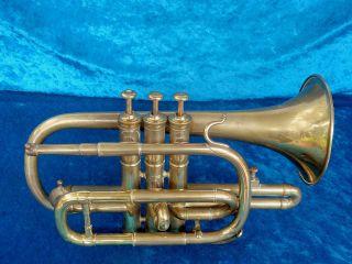 Vintage Brass Cornet J Wallis & Son London photo